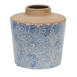 Thursfield Medium vase, H22.5 x Dia21.5cm, flax blue