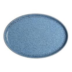 Studio Blue Medium oval tray, 27 x 18.5 x 2.5cm, flint