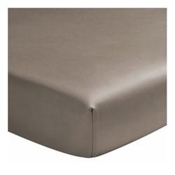 Teo Super king size fitted sheet, W180 x L200cm, mink