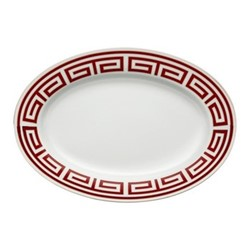 Labirinto Oval platter, 34cm, scarlatto