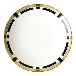 Satori Black Coupe bowl, D30 x H5cm, black/white/gold