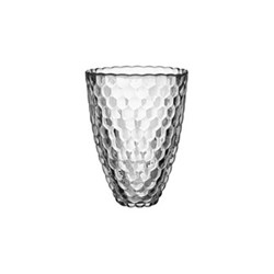 Raspberry Vase, H20 x 15.5cm, frosted