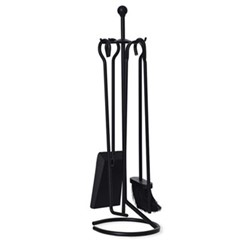Filkins Set of 4 fireside tools, H67cm, black