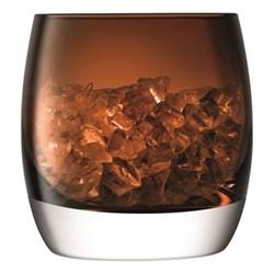 Whisky Club Ice bucket, H14.7 x D14.4cm, peat brown