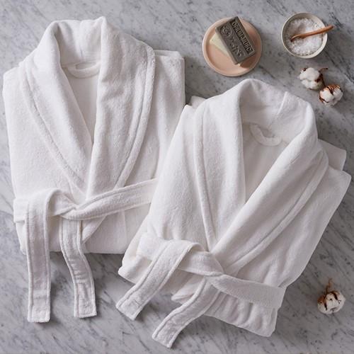 Barnes Set of couples bathrobes, white