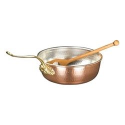 Historia Chef pan with wooden spoon, Dia 26cm, copper