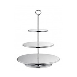 Classique Cake stand 3 tiers, H47cm, silver plate