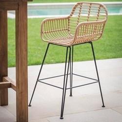 Hampstead Bar stool, H109 x W52 x D60cm, bamboo