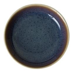 Art Glaze Flared dish, 11cm, pressed mulberry