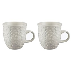 In The Forest Pair of mugs, H10.5 x W10.5 x L13.5cm, cream