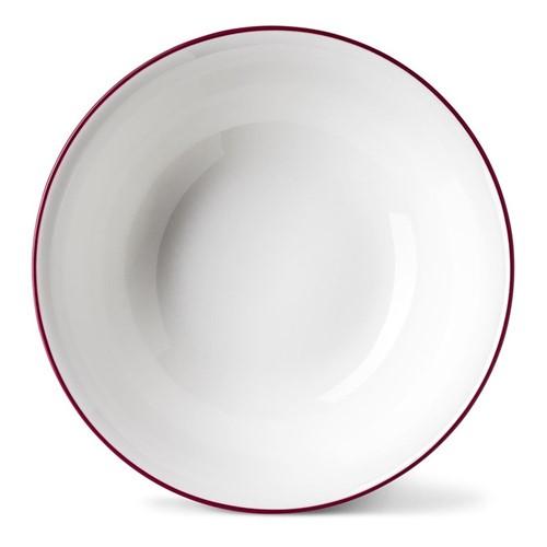 Rainbow Collection Cereal bowl, Dia16 x H5.5cm, cerise pink rim