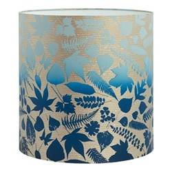 Falling Leaves Lampshade, 36 x 36cm, pebble/midnight ombre