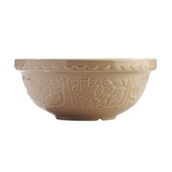 In The Forest - Owl Embossed Mixing bowl, 26cm, stone