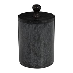 Marbled Resin Storage pot, D8 x H12.5cm, black
