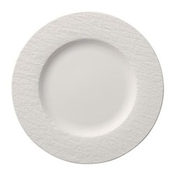 Manufacture Rock Flat plate, D27cm, white
