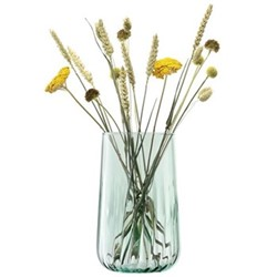 Mia Vase/Lantern Recycled Part Optic 25.5cm, Clear