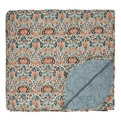 Little Chintz Throw, L260 x W265cm, teal