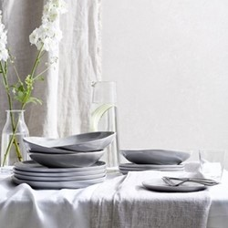 Portobello 12 piece dinner set, grey