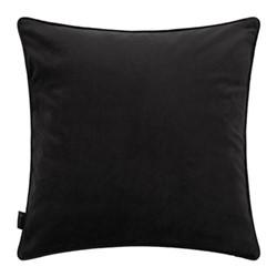Velvet cushion, W45 x L45cm, black