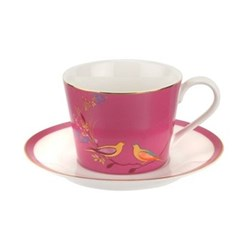 Chelsea Collection Teacup and saucer, 20cl, pink