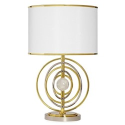 Electrum Kinetic table lamp, Dia 38.1 x H61.95cm, polished brass & nickel
