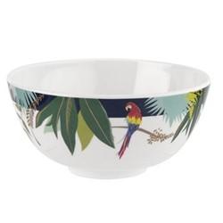 Parrot Set of 4 melamine bowls, 15cm, white