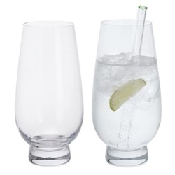 Gin Connoissuer Pair of gin highball glasses, H12.5cm - 0.5 litre, clear