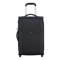 Mercure 2 wheel slim cabin trolley, 55cm, black