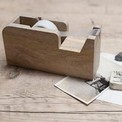Hansa Wooden tape dispenser, 7.5 x 4.5 x 15cm, mango wood