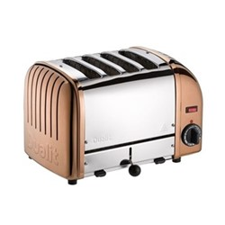 Classic Vario 4 slot toaster, copper