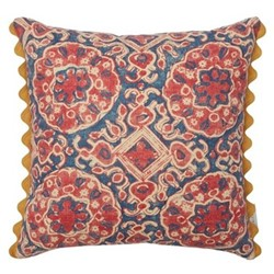 Ashcombe Cushion, 50 x 50cm, red blue