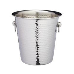 Luxury wine/champagne cooler bucket, hammered metal