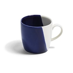 Dip Mug, Dia9cm, cobalt/cream