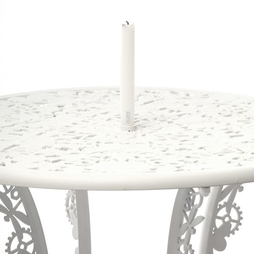 Industry Round table, H74 x D70cm, White