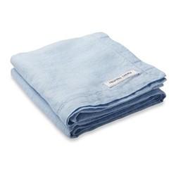 Linen beach towel, baby blue