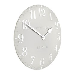 Arabic Small wall clock, 30cm, dove grey resin