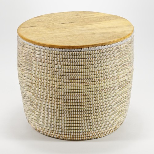 La Prairie Round storage table, H33 x Dia38cm, natural