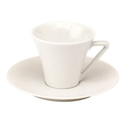 Seychelles European coffee cup and saucer, 14cl, white