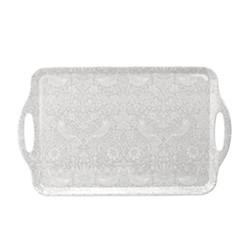 Pure Morris - Strawberry Thief Large tray, 48 x 29.5cm, grey/white