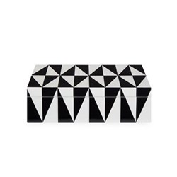 Op Art Box, medium, Black/White