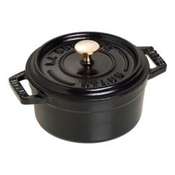 Mini round cocotte, 10cm, black