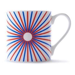 Burst Mug, H9 x D8.5cm, red/blue