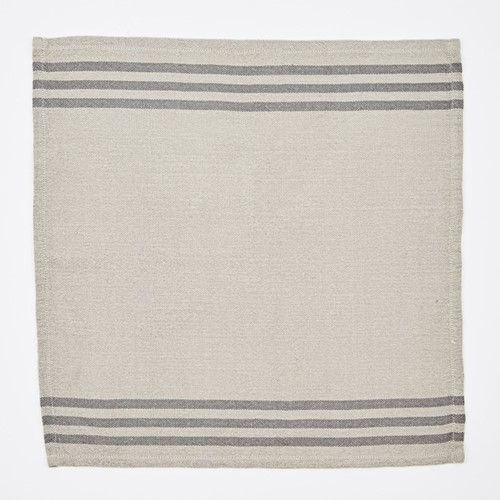Maxime Set of 4 napkins, W50 x L50cm, linen / grey