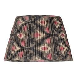 Ikat Silk lampshade, H33 x Dia50cm, Grey/Pink