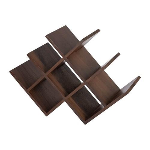 Wooden wine rack, H55.9 x W18.1 x D20cm