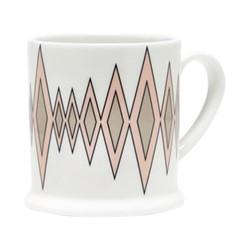 Diamond Espresso cup, 6.6 x 6.1cm, blush/truffle