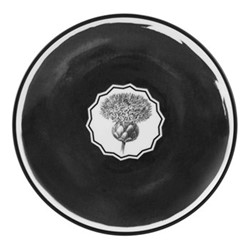 Herbariae Butter dish, 16 x 2cm, white