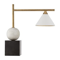 Cleo Table Lamp, H44 x W43 x D18cm, bronze & brass