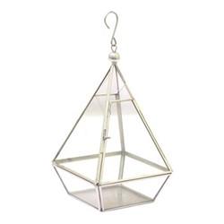 Steel Terrarium, H15 x W15 x D26cm, glass/metal