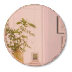 Hub Beveled mirror, Dia91cm, copper